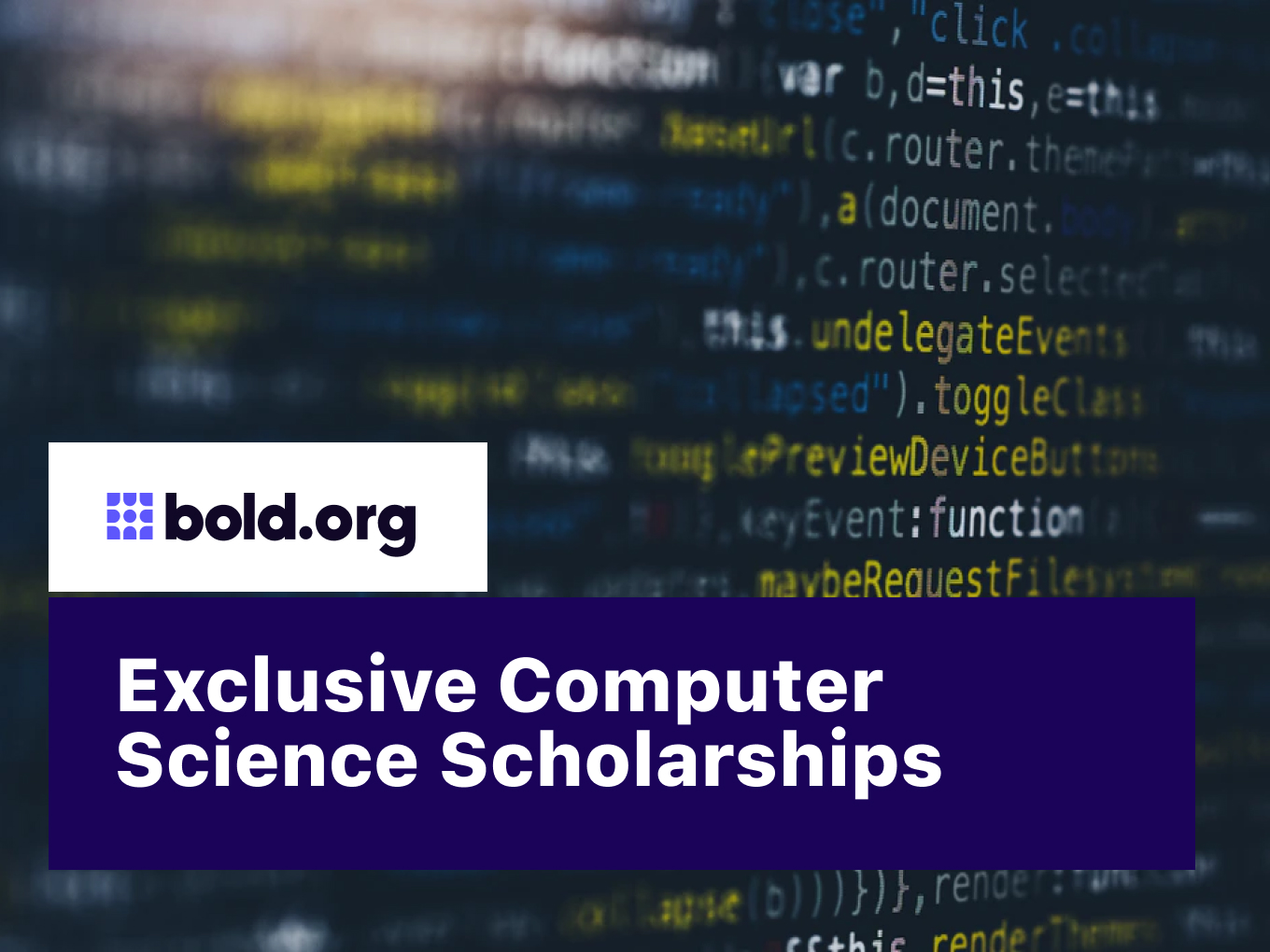 4 Scholarships for Computer Science and Tech